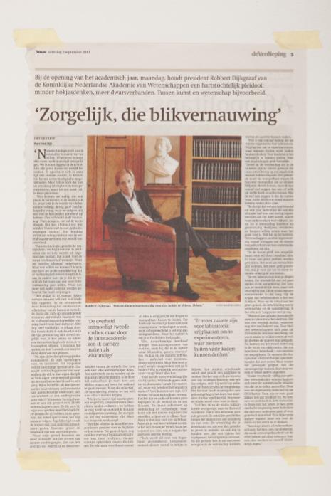 Robbert Dijkgraaf: 'Zorgelijk, die blikvernauwing'