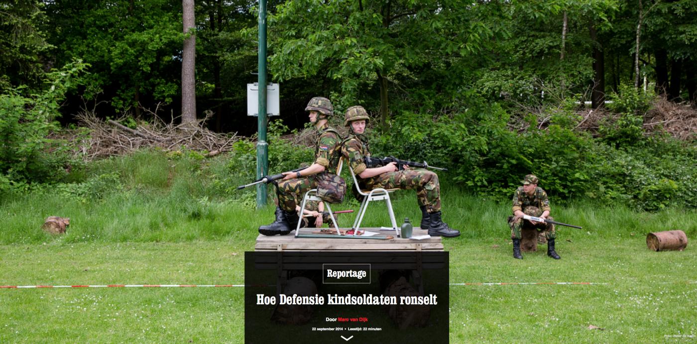reportage over Nederlandse kindsoldaten veel gedeeld en besproken
