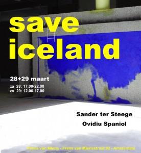 save iceland - eflyer