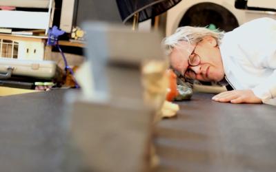 Merijn Bolink in zijn studio
